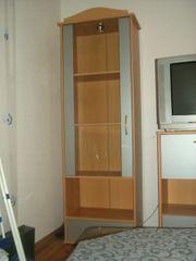 3-tlg Wohnwand buche- silberfarben passender