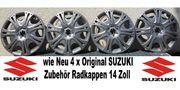 4 x Original SUZUKI Radkappen