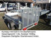 Gebrauchter Humbaur HA132513 ÜFW Einachser