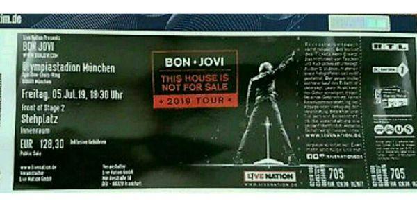 Zvk1 Ticket F Bon Jovi Fos In München Am 05072019 In Beilstein