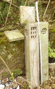 Granit Steinlaterne Gartenlampe Säulenlampe 2