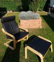 POÄNG-Sessel - Hocker von Ikea