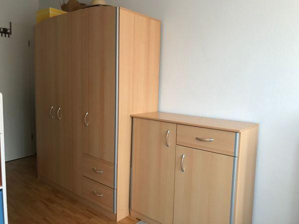 Kinderzimmer Schrank Kommode Bett In Heller Buche Silber In