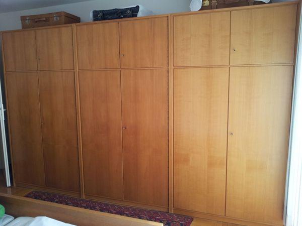 Kirschbaum Schlafzimmer Schrankwand - Schränke mit Doppeltür und ...