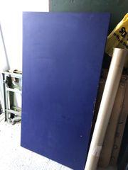 Schreibtischplatte blau 150x80