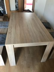 Tischgruppe Esstisch 2 Bänke 4