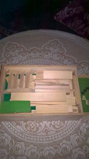 Ein russischer Holzhausbaukasten
