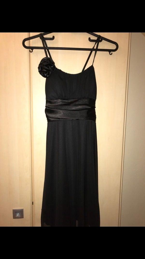 konfirmationskleid schwarz 34