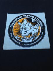 1 Aufkleber Sticker Tattoostudio Colorfast