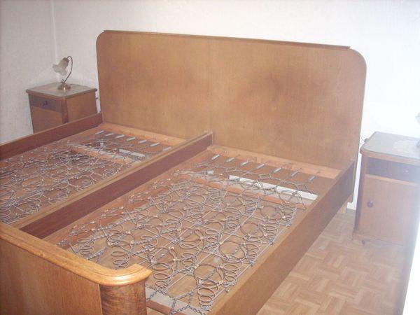 Schlafzimmer 1950 alt komplett, Schminktisch, Nachttisch ...