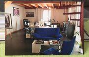 Sessel und Zweisitzer Couch blau