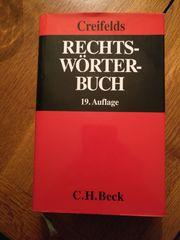 Creifelds Rechtswörterbuch 19 Auflage gebraucht