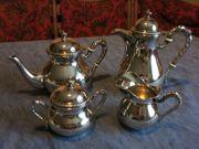 Silber 5 tlg Kaffee Teekanne