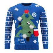 Schalke Sweatshirt Ugly Christmas Tannenbaum