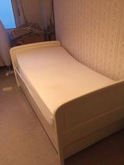 Einzelbett weiß massiv