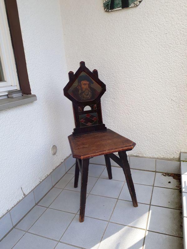 Lieblich Stuhl Rustikal Antik Massivholz Mit