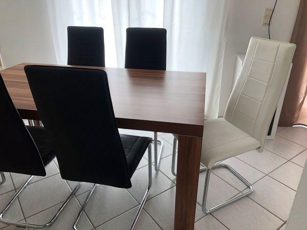 Esszimmer Stuhl Stühle Freischwinger Weiß