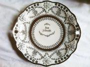 Schmuckteller Zum Silberfeste Geschirr antiquarisch