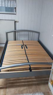 Bettgestell silber Metall 140 x