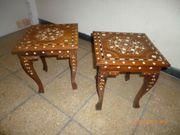 2 Holz - Tischchen