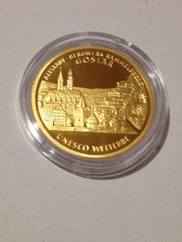 100 Euro Gold Goslar 2008 G Unesco In Bruchsal Münzen Kaufen Und