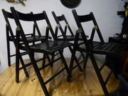 Klappstuhl - Holzstuhl - vier Holzklappstühle - Stuhl -