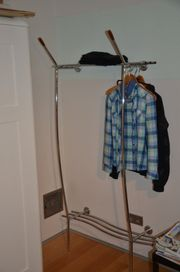 Garderobe, Chrom, mit