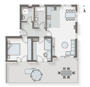 Erstbezug 3 Zimmer Dachterrassen-Wohnung - neue
