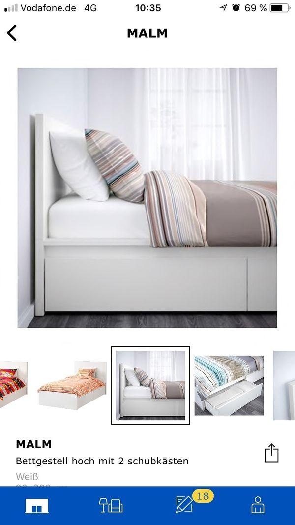 Ikea Malm Bett Weiss 90x200cm In Neustadt Betten Kaufen Und