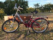 Kinder Fahrrad Aluminium Rot-Silber von