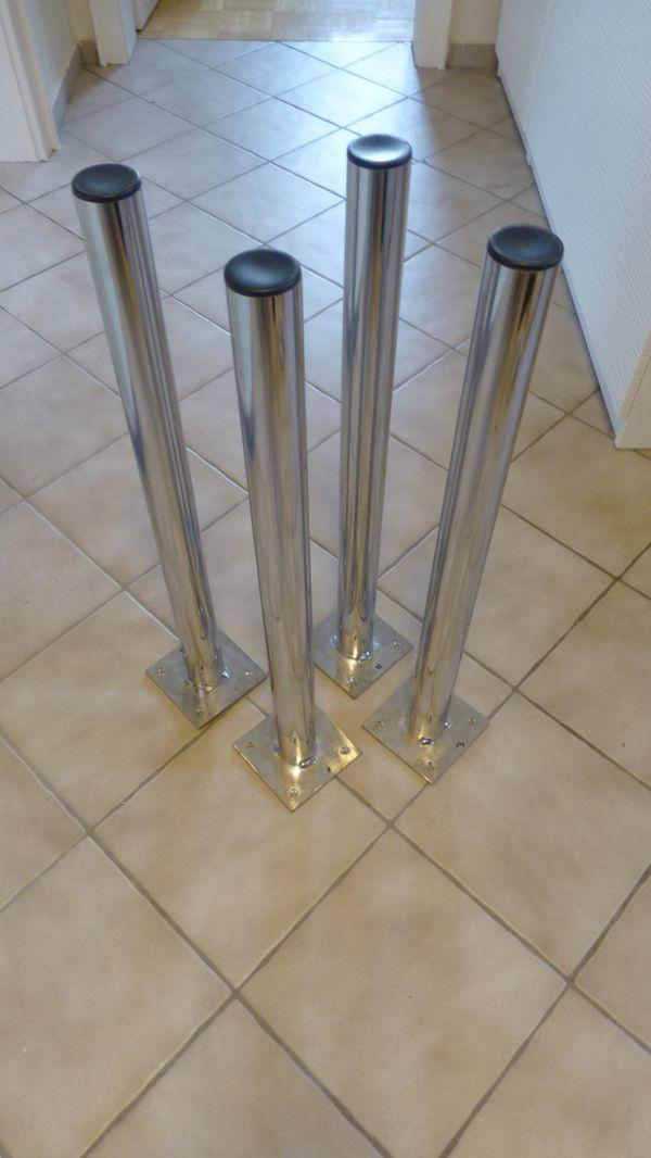 4 Tischfüße - verchromt in München - Büromöbel kaufen und ...