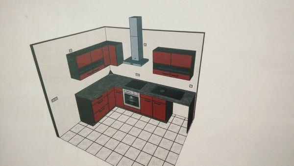 Schöne Eckküche in Bordeux Hochglanz (Originalverpackt und NEU) in ...