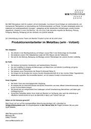 Produktionsmitarbeiter im Metallbau (