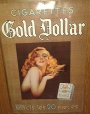 BLECHSCHILD MARKE *GOLD