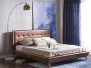 Bett Kunstleder braun 160 x