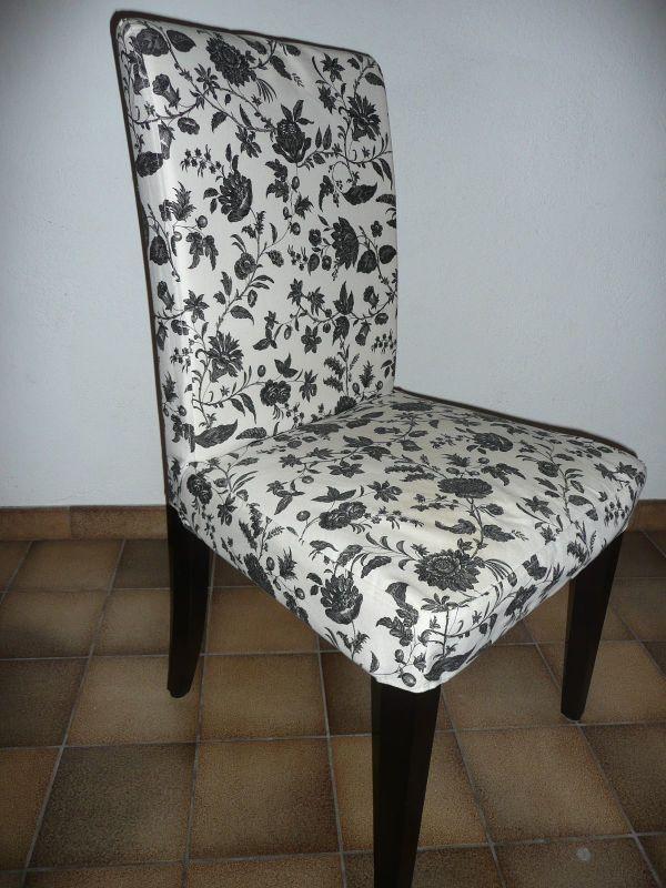IKEA Stuhl; Marke Henriksdal - Dormitz Erleinhof - biete hier 4 wunderschöne IKEA Stühle, Marke Henriksdal, gut erhalten , gepolstert, Stuhlbeine sind scharz gebeizt, Bezug ist abnehmbar und waschbar, das Muster (siehe Bilder ) wird in dieser Form nicht mehr angeboten - Dormitz Erleinhof