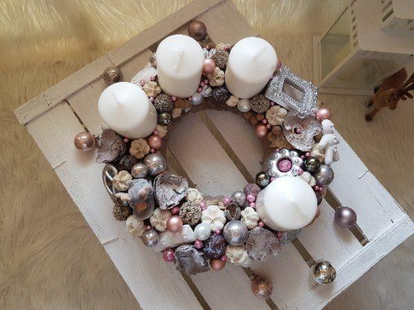 Adventskranz Kaufen adventskranz weihnacht unikat grau pelz in schaafheim dekoartikel