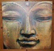 Buddha Kunstdruck 60x60cm - wie Neu -