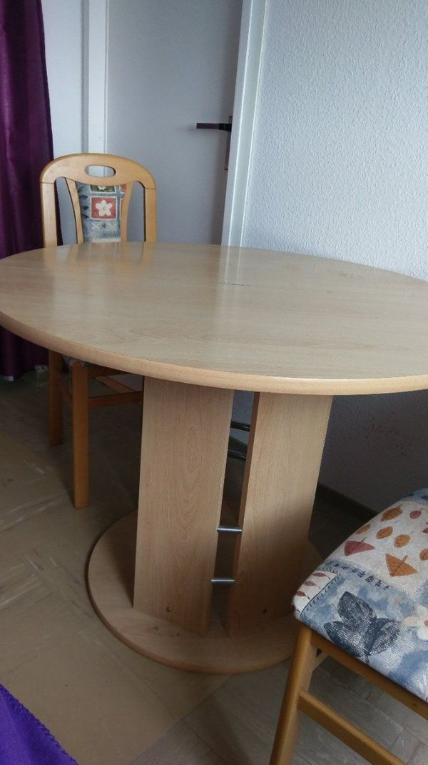 runder Tisch, 4 Stühle in Berlin - Speisezimmer, Essecken kaufen und ...