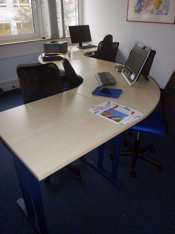 Schreibtisch mit besprechungstisch for Buromobel osnabruck