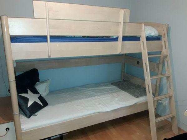 Etagenbett Hochbett Gebraucht : Massiv kiefer etagenbett hochbett weiß inkl lattenroste und