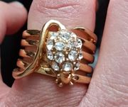 Modeschmuck ring vergoldet