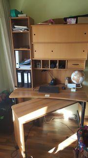 Schreibtisch -wand