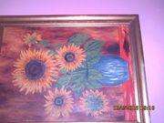 Bild mit Rahmen goldfarben
