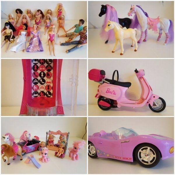 Großes Barbie Set... » Puppen