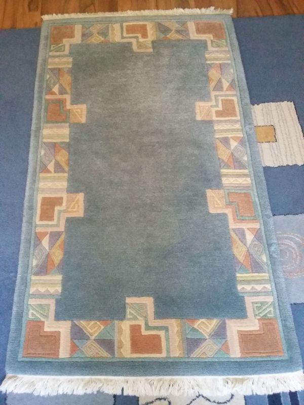 Teppich Reine Wolle In Blau 2x In Nurnberg Teppiche Kaufen Und