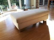 Sofa-Hocker Couch-Hocker Hocker beige sand