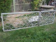 Schmiedeeisernes verzinktes zweiflügliches Hoftor Gartentor