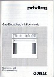 Gas Einbauherd Privileg
