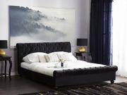 Polsterbett schwarz Lattenrost 160 x
